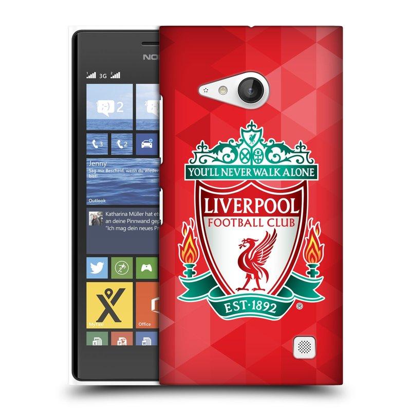 Plastové pouzdro na mobil Nokia Lumia 735 HEAD CASE ZNAK LIVERPOOL FC OFFICIAL GEOMETRIC RED (Kryt či obal na mobilní telefon Liverpool FC Official pro Nokia Lumia 735)