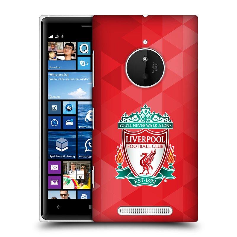 Plastové pouzdro na mobil Nokia Lumia 830 HEAD CASE ZNAK LIVERPOOL FC OFFICIAL GEOMETRIC RED (Kryt či obal na mobilní telefon Liverpool FC Official pro Nokia Lumia 830)