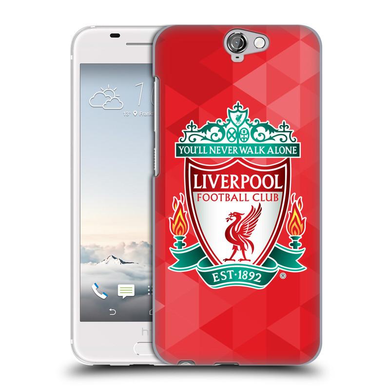 Plastové pouzdro na mobil HTC One A9 HEAD CASE ZNAK LIVERPOOL FC OFFICIAL GEOMETRIC RED (Kryt či obal na mobilní telefon Liverpool FC Official pro HTC One A9)