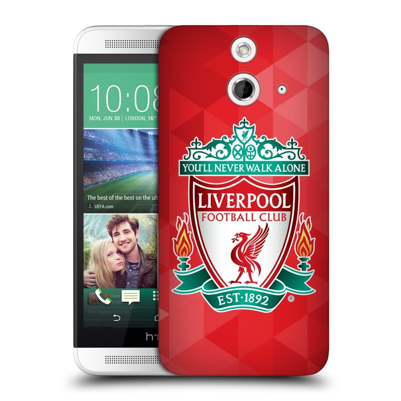 Plastové pouzdro na mobil HTC ONE E8 HEAD CASE ZNAK LIVERPOOL FC OFFICIAL GEOMETRIC RED (Kryt či obal na mobilní telefon Liverpool FC Official pro HTC ONE E8)