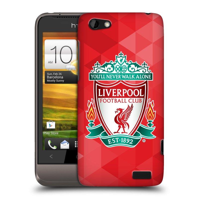Plastové pouzdro na mobil HTC ONE V HEAD CASE ZNAK LIVERPOOL FC OFFICIAL GEOMETRIC RED (Kryt či obal na mobilní telefon Liverpool FC Official pro HTC ONE V)