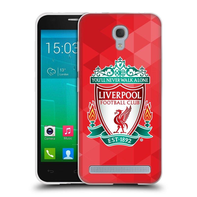 Silikonové pouzdro na mobil Alcatel One Touch Idol 2 Mini S 6036Y HEAD CASE ZNAK LIVERPOOL FC OFFICIAL GEOMETRIC RED (Silikonový kryt či obal na mobilní telefon Liverpool FC Official pro Alcatel Idol 2 Mini S OT-6036Y)