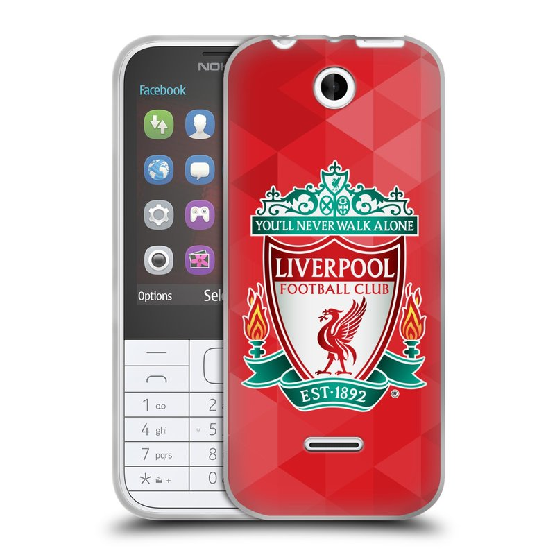 Silikonové pouzdro na mobil Nokia 225 HEAD CASE ZNAK LIVERPOOL FC OFFICIAL GEOMETRIC RED (Silikonový kryt či obal na mobilní telefon Liverpool FC Official pro Nokia 225)