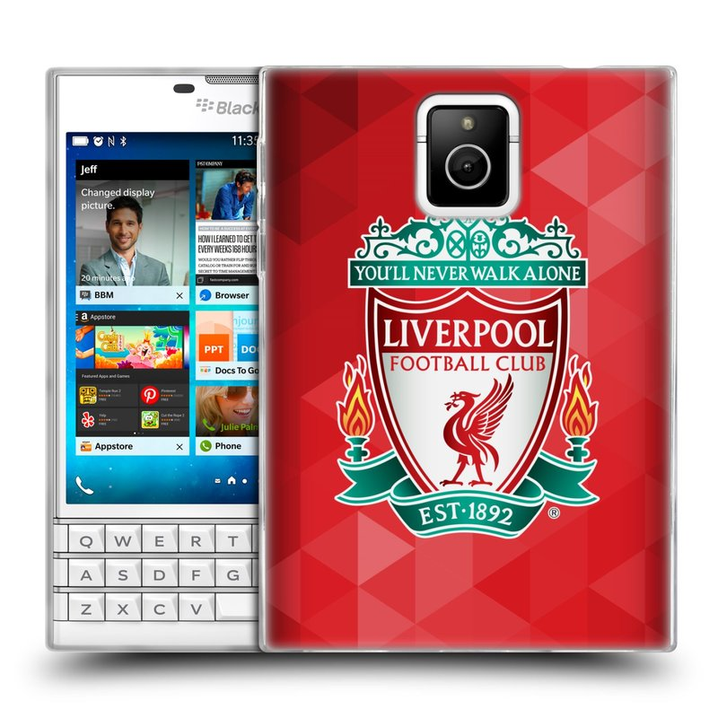 Silikonové pouzdro na mobil Blackberry PASSPORT HEAD CASE ZNAK LIVERPOOL FC OFFICIAL GEOMETRIC RED (Silikonový kryt či obal na mobilní telefon Liverpool FC Official pro Blackberry PASSPORT)