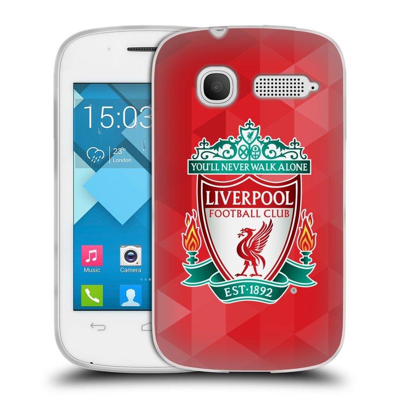 Silikonové pouzdro na mobil Alcatel One Touch Pop C1 HEAD CASE ZNAK LIVERPOOL FC OFFICIAL GEOMETRIC RED (Silikonový kryt či obal na mobilní telefon Liverpool FC Official pro Alcatel One Touch Pop C1)