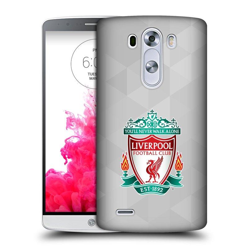 Plastové pouzdro na mobil LG G3 HEAD CASE ZNAK LIVERPOOL FC OFFICIAL GEOMETRIC WHITE (Kryt či obal na mobilní telefon Liverpool FC Official pro LG G3)