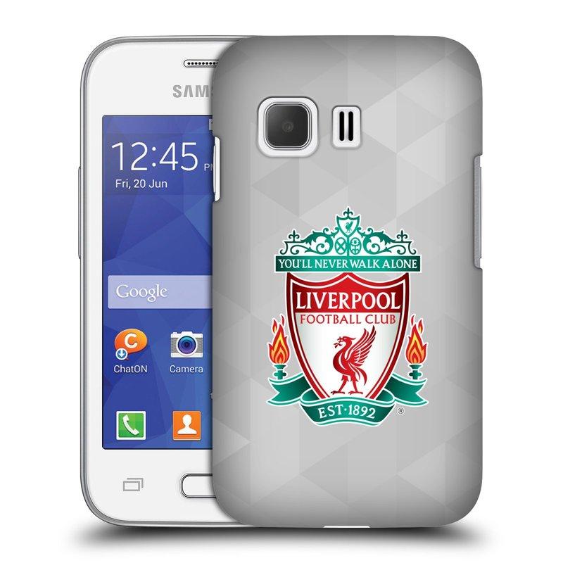 Plastové pouzdro na mobil Samsung Galaxy Young 2 HEAD CASE ZNAK LIVERPOOL FC OFFICIAL GEOMETRIC WHITE (Kryt či obal na mobilní telefon Liverpool FC Official pro Samsung Galaxy Young 2 SM-G130)