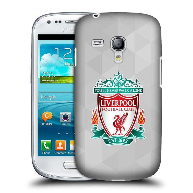 Plastové pouzdro na mobil Samsung Galaxy S3 Mini VE HEAD CASE ZNAK LIVERPOOL FC OFFICIAL GEOMETRIC WHITE (Kryt či obal na mobilní telefon Liverpool FC Official pro Samsung Galaxy S3 Mini VE GT-i8200)