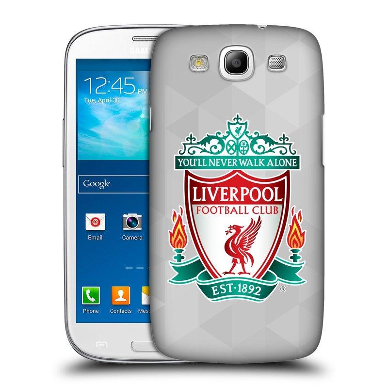 Plastové pouzdro na mobil Samsung Galaxy S3 Neo HEAD CASE ZNAK LIVERPOOL FC OFFICIAL GEOMETRIC WHITE (Kryt či obal na mobilní telefon Liverpool FC Official pro Samsung Galaxy S3 Neo GT-i9301i)