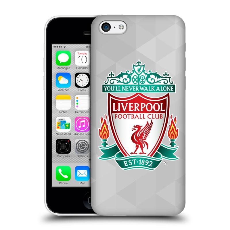 Plastové pouzdro na mobil Apple iPhone 5C HEAD CASE ZNAK LIVERPOOL FC OFFICIAL GEOMETRIC WHITE (Kryt či obal na mobilní telefon Liverpool FC Official pro Apple iPhone 5C)