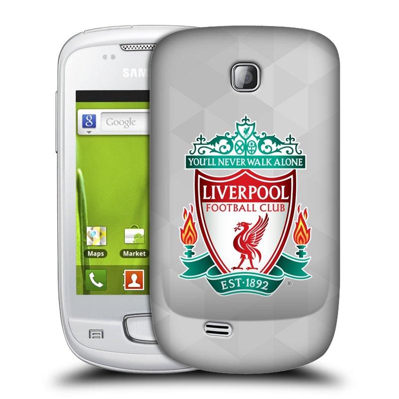 Plastové pouzdro na mobil Samsung Galaxy Mini HEAD CASE ZNAK LIVERPOOL FC OFFICIAL GEOMETRIC WHITE (Kryt či obal na mobilní telefon Liverpool FC Official pro Samsung Galaxy Mini GT-S5570 / GT-S5570i)