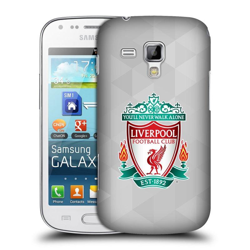 Plastové pouzdro na mobil Samsung Galaxy S Duos HEAD CASE ZNAK LIVERPOOL FC OFFICIAL GEOMETRIC WHITE (Kryt či obal na mobilní telefon Liverpool FC Official pro Samsung Galaxy S Duos GT-S7562)
