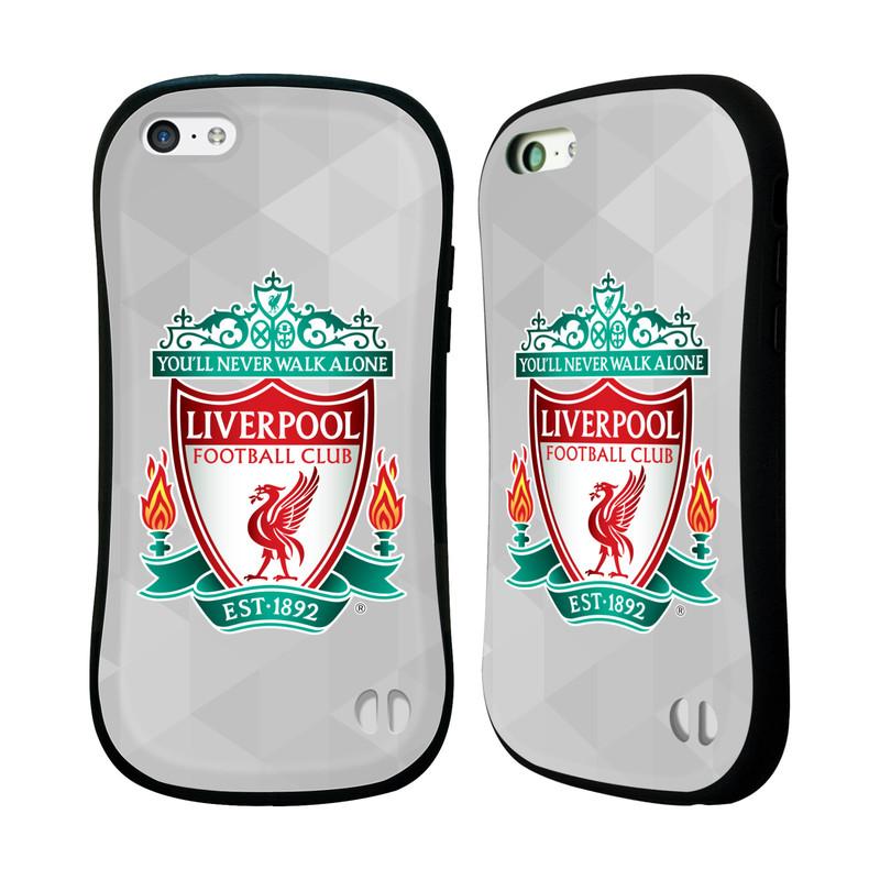 Nárazuvzdorné Plastové pouzdro na mobil Apple iPhone 5C HEAD CASE ZNAK LIVERPOOL FC OFFICIAL GEOMETRIC WHITE (Odolný nárazuvzdorný silikonový kryt či obal na mobilní telefon Liverpool FC Official pro Apple iPhone 5C)