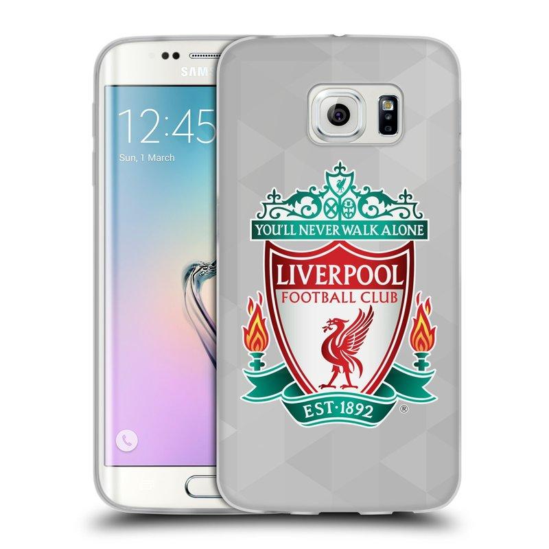 Silikonové pouzdro na mobil Samsung Galaxy S6 Edge HEAD CASE ZNAK LIVERPOOL FC OFFICIAL GEOMETRIC WHITE (Silikonový kryt či obal na mobilní telefon Liverpool FC Official pro Samsung Galaxy S6 Edge SM-G925F)