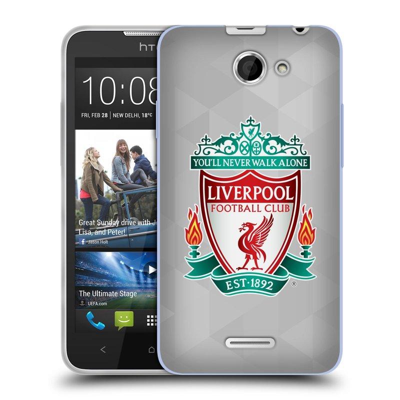 Silikonové pouzdro na mobil HTC Desire 516 HEAD CASE ZNAK LIVERPOOL FC OFFICIAL GEOMETRIC WHITE (Silikonový kryt či obal na mobilní telefon Liverpool FC Official pro HTC Desire 516 Dual SIM)