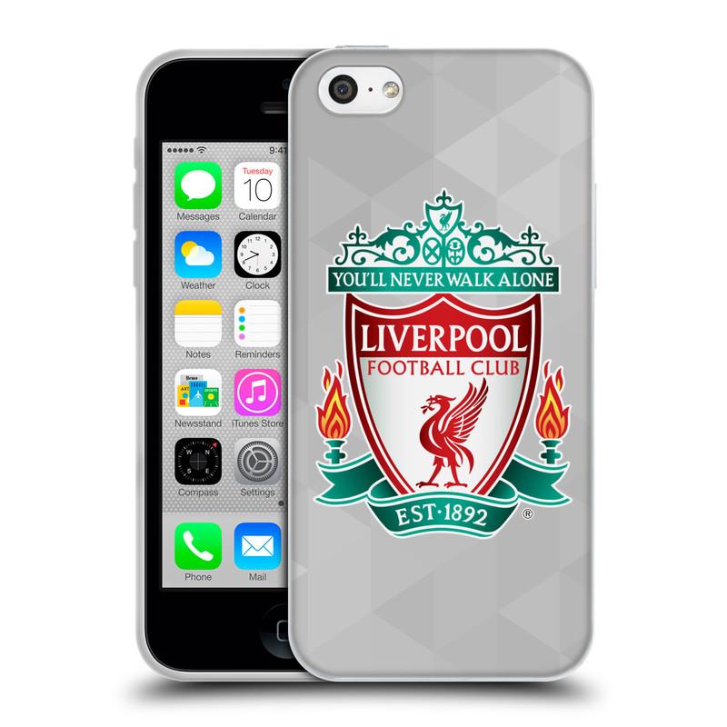 Silikonové pouzdro na mobil Apple iPhone 5C HEAD CASE ZNAK LIVERPOOL FC OFFICIAL GEOMETRIC WHITE (Silikonový kryt či obal na mobilní telefon Liverpool FC Official pro Apple iPhone 5C)