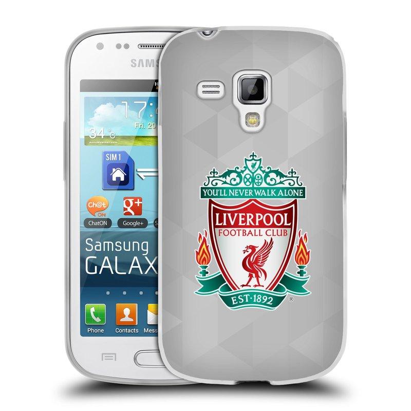Silikonové pouzdro na mobil Samsung Galaxy S Duos HEAD CASE ZNAK LIVERPOOL FC OFFICIAL GEOMETRIC WHITE (Silikonový kryt či obal na mobilní telefon Liverpool FC Official pro Samsung Galaxy S Duos GT-S7562)