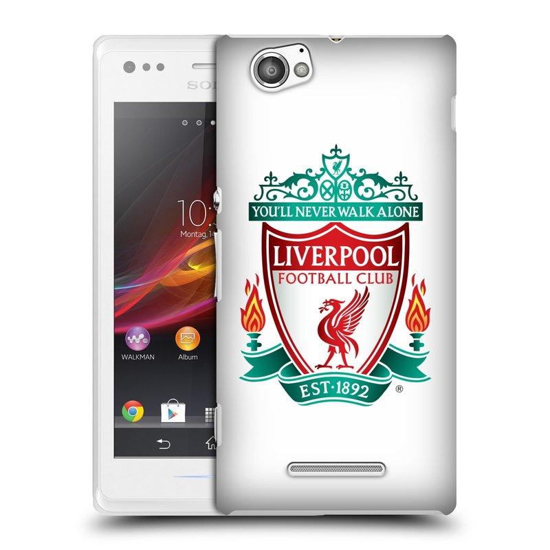 Plastové pouzdro na mobil Sony Xperia M C1905 HEAD CASE ZNAK LIVERPOOL FC OFFICIAL WHITE (Kryt či obal na mobilní telefon Liverpool FC Official pro Sony Xperia M )