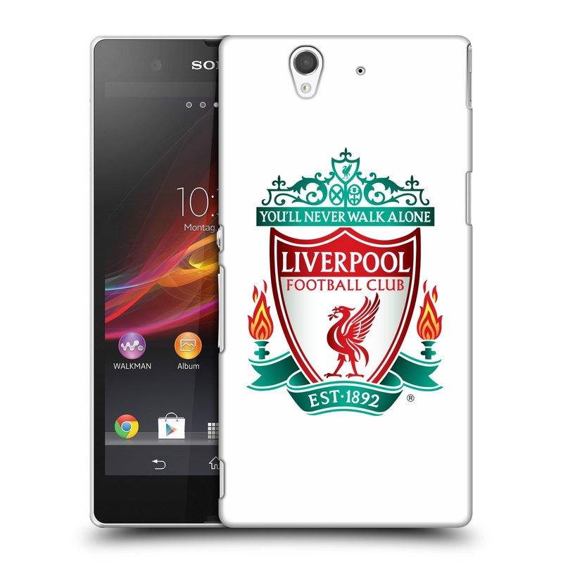 Plastové pouzdro na mobil Sony Xperia Z C6603 HEAD CASE ZNAK LIVERPOOL FC OFFICIAL WHITE (Kryt či obal na mobilní telefon Liverpool FC Official pro Sony Xperia Z)
