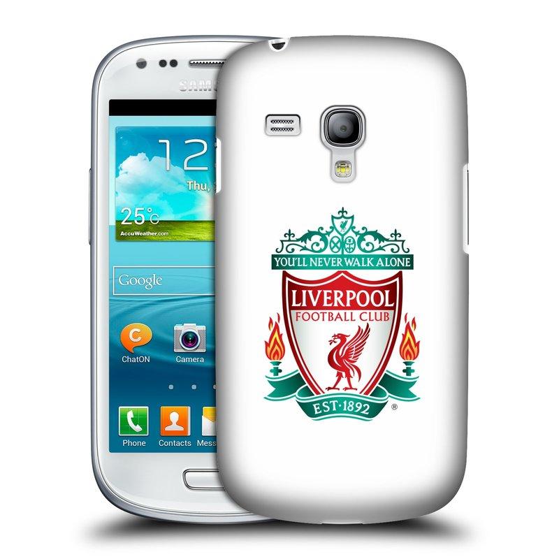 Plastové pouzdro na mobil Samsung Galaxy S III Mini HEAD CASE ZNAK LIVERPOOL FC OFFICIAL WHITE (Kryt či obal na mobilní telefon Liverpool FC Official pro Samsung Galaxy S III Mini GT-i8190)
