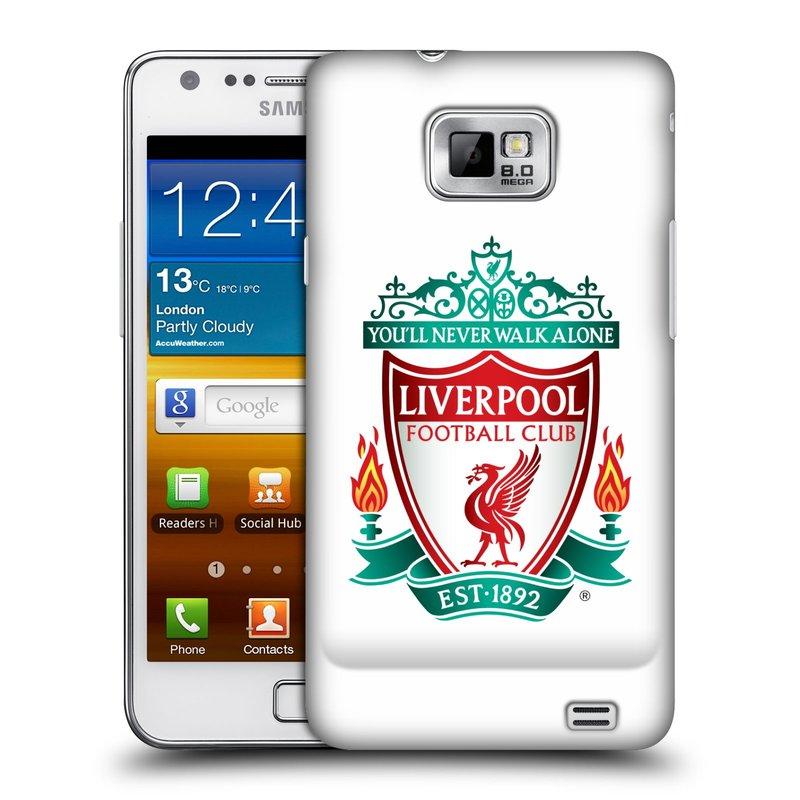 Plastové pouzdro na mobil Samsung Galaxy S II HEAD CASE ZNAK LIVERPOOL FC OFFICIAL WHITE (Kryt či obal na mobilní telefon Liverpool FC Official pro Samsung Galaxy S II GT-i9100)