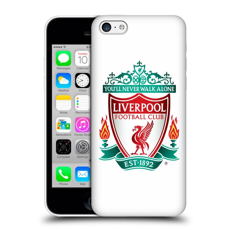 Plastové pouzdro na mobil Apple iPhone 5C HEAD CASE ZNAK LIVERPOOL FC OFFICIAL WHITE (Kryt či obal na mobilní telefon Liverpool FC Official pro Apple iPhone 5C)