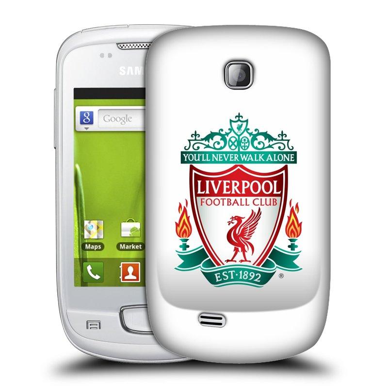 Plastové pouzdro na mobil Samsung Galaxy Mini HEAD CASE ZNAK LIVERPOOL FC OFFICIAL WHITE (Kryt či obal na mobilní telefon Liverpool FC Official pro Samsung Galaxy Mini GT-S5570 / GT-S5570i)