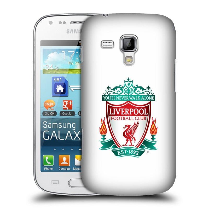 Plastové pouzdro na mobil Samsung Galaxy S Duos HEAD CASE ZNAK LIVERPOOL FC OFFICIAL WHITE (Kryt či obal na mobilní telefon Liverpool FC Official pro Samsung Galaxy S Duos GT-S7562)