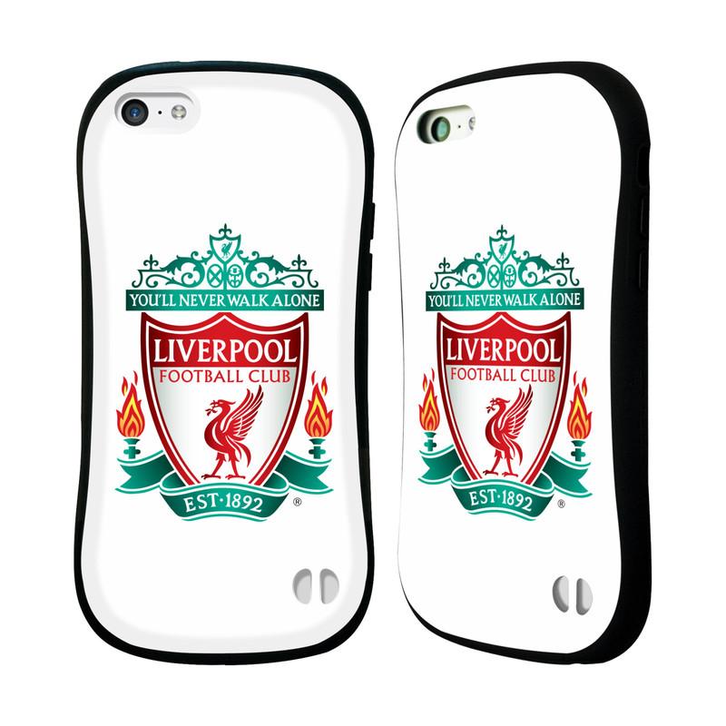 Nárazuvzdorné Plastové pouzdro na mobil Apple iPhone 5C HEAD CASE ZNAK LIVERPOOL FC OFFICIAL WHITE (Odolný nárazuvzdorný silikonový kryt či obal na mobilní telefon Liverpool FC Official pro Apple iPhone 5C)