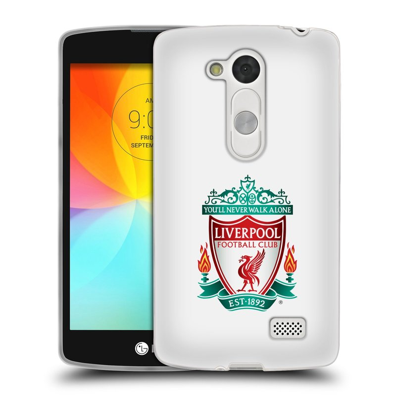 Silikonové pouzdro na mobil LG L Fino HEAD CASE ZNAK LIVERPOOL FC OFFICIAL WHITE (Silikonový kryt či obal na mobilní telefon Liverpool FC Official pro LG L Fino a LG L Fino Dual)