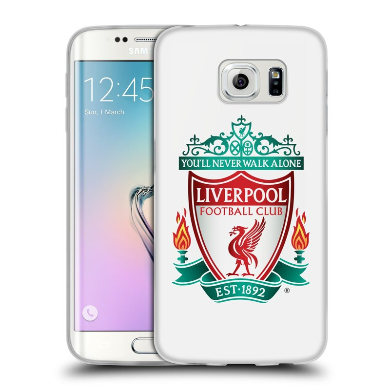 Silikonové pouzdro na mobil Samsung Galaxy S6 Edge HEAD CASE ZNAK LIVERPOOL FC OFFICIAL WHITE (Silikonový kryt či obal na mobilní telefon Liverpool FC Official pro Samsung Galaxy S6 Edge SM-G925F)