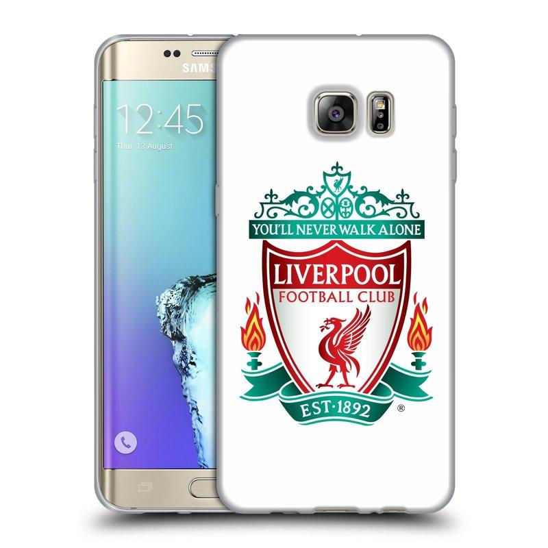 Silikonové pouzdro na mobil Samsung Galaxy S6 Edge Plus HEAD CASE ZNAK LIVERPOOL FC OFFICIAL WHITE (Silikonový kryt či obal na mobilní telefon Liverpool FC Official pro Samsung Galaxy S6 Edge Plus SM-G928F)
