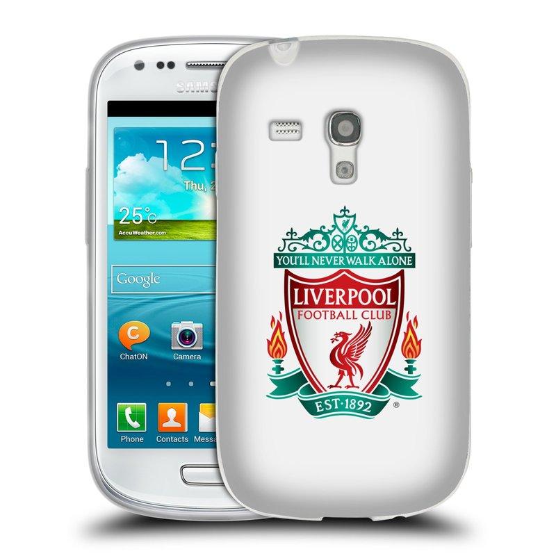 Silikonové pouzdro na mobil Samsung Galaxy S III Mini HEAD CASE ZNAK LIVERPOOL FC OFFICIAL WHITE (Silikonový kryt či obal na mobilní telefon Liverpool FC Official pro Samsung Galaxy S III Mini GT-i8190)