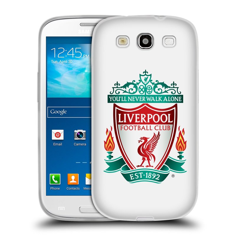 Silikonové pouzdro na mobil Samsung Galaxy S3 Neo HEAD CASE ZNAK LIVERPOOL FC OFFICIAL WHITE (Silikonový kryt či obal na mobilní telefon Liverpool FC Official pro Samsung Galaxy S3 Neo GT-i9301i)