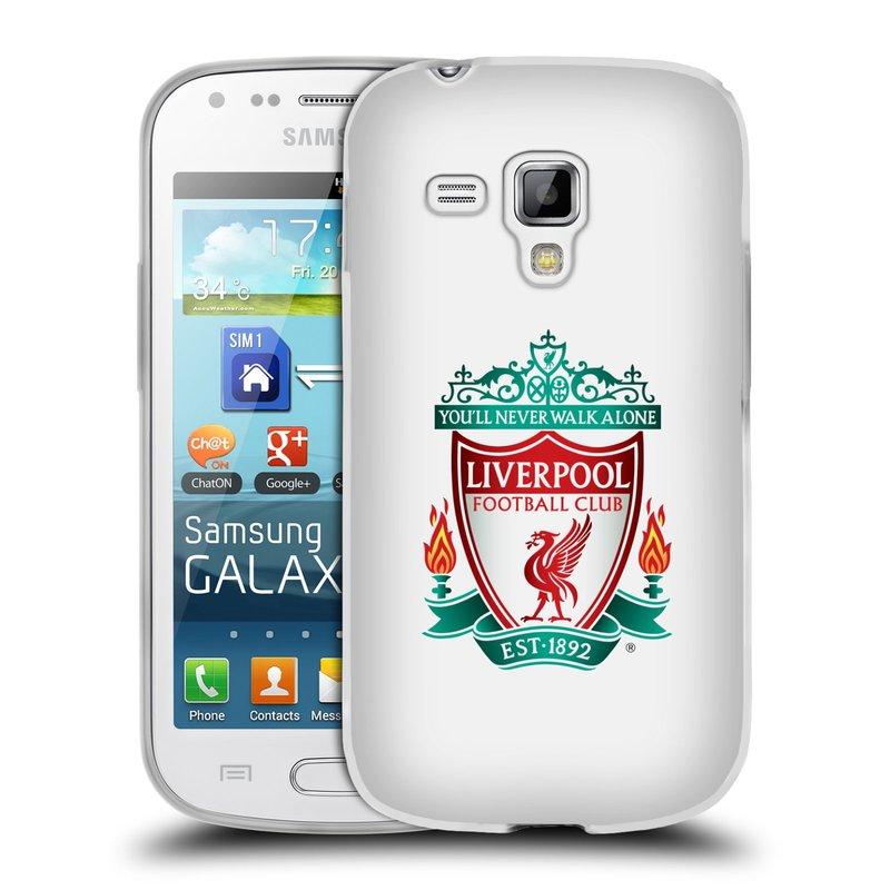 Silikonové pouzdro na mobil Samsung Galaxy S Duos HEAD CASE ZNAK LIVERPOOL FC OFFICIAL WHITE (Silikonový kryt či obal na mobilní telefon Liverpool FC Official pro Samsung Galaxy S Duos GT-S7562)