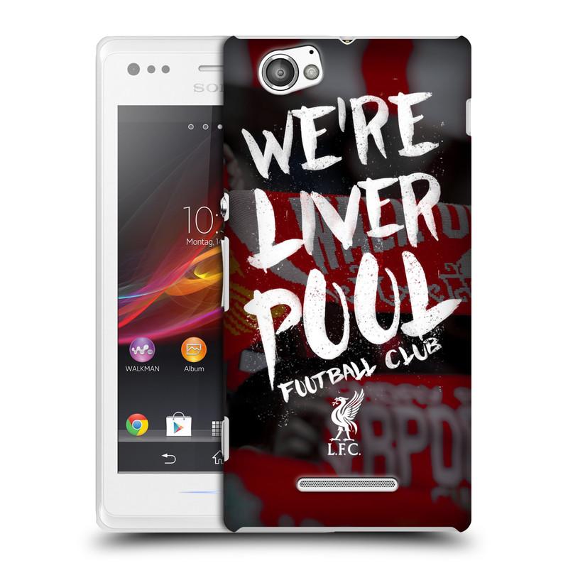 Plastové pouzdro na mobil Sony Xperia M C1905 HEAD CASE We're Liverpool (Kryt či obal na mobilní telefon Liverpool FC Official pro Sony Xperia M )
