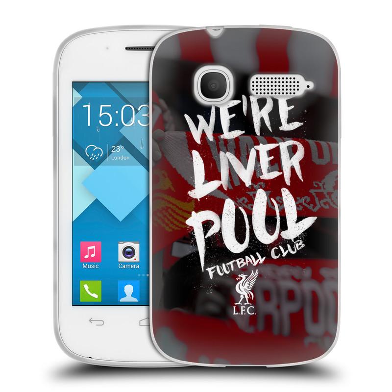Silikonové pouzdro na mobil Alcatel One Touch Pop C1 HEAD CASE We're Liverpool (Silikonový kryt či obal na mobilní telefon Liverpool FC Official pro Alcatel One Touch Pop C1)
