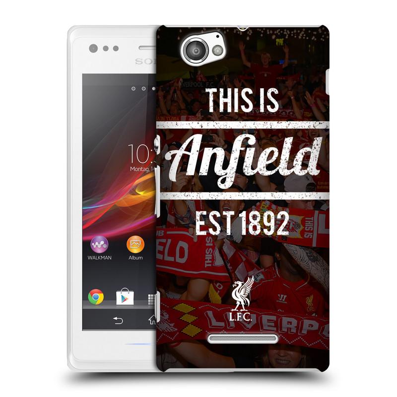 Plastové pouzdro na mobil Sony Xperia M C1905 HEAD CASE LFC This Is Anfield (Kryt či obal na mobilní telefon Liverpool FC Official pro Sony Xperia M )
