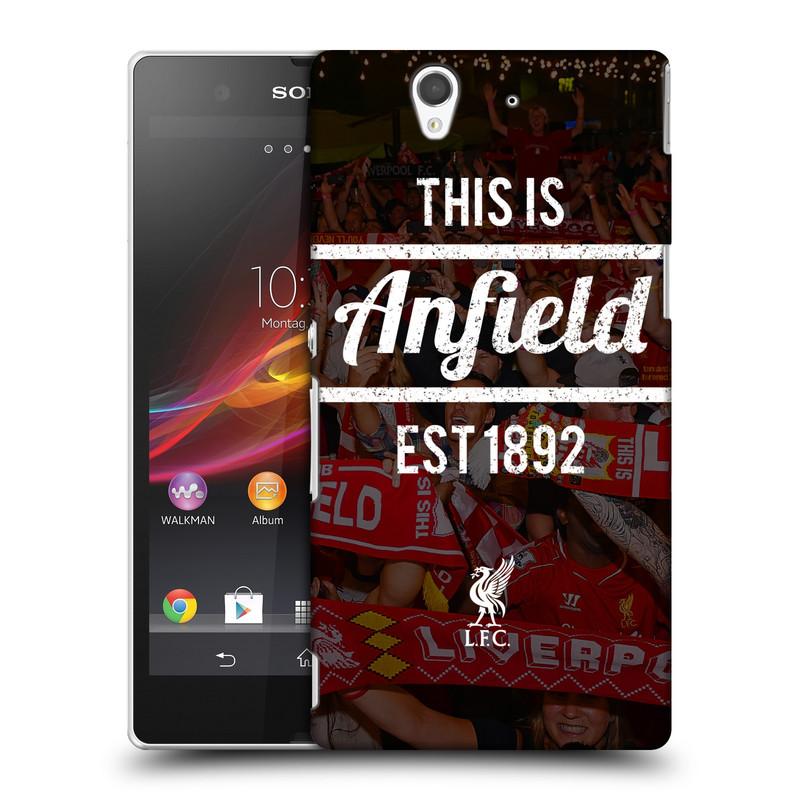 Plastové pouzdro na mobil Sony Xperia Z C6603 HEAD CASE LFC This Is Anfield (Kryt či obal na mobilní telefon Liverpool FC Official pro Sony Xperia Z)