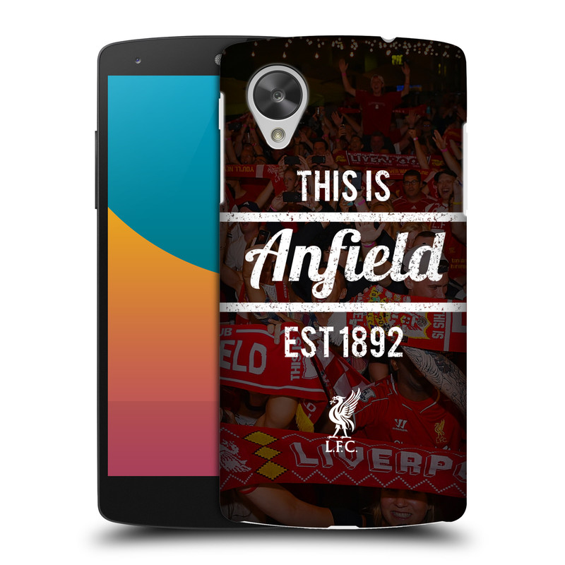 Plastové pouzdro na mobil LG Nexus 5 HEAD CASE LFC This Is Anfield (Kryt či obal na mobilní telefon Liverpool FC Official pro LG Google Nexus 5 D821)