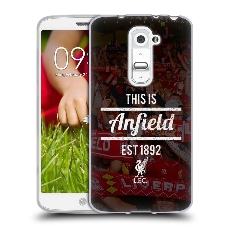 Silikonové pouzdro na mobil LG G2 Mini HEAD CASE LFC This Is Anfield (Silikonový kryt či obal na mobilní telefon Liverpool FC Official pro LG G2 Mini D620)