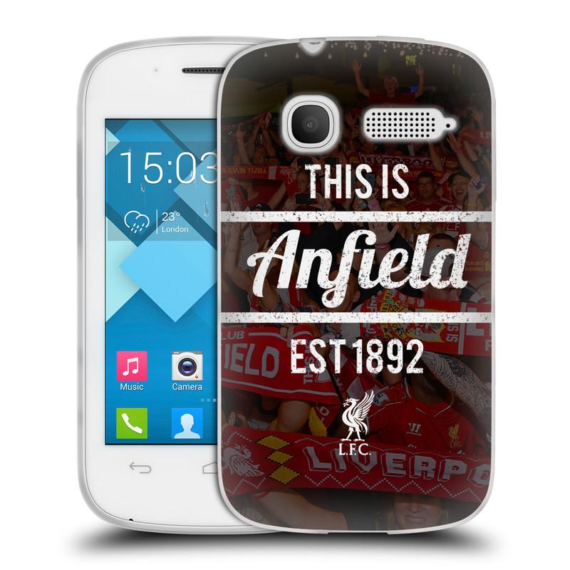 Silikonové pouzdro na mobil Alcatel One Touch Pop C1 HEAD CASE LFC This Is Anfield (Silikonový kryt či obal na mobilní telefon Liverpool FC Official pro Alcatel One Touch Pop C1)