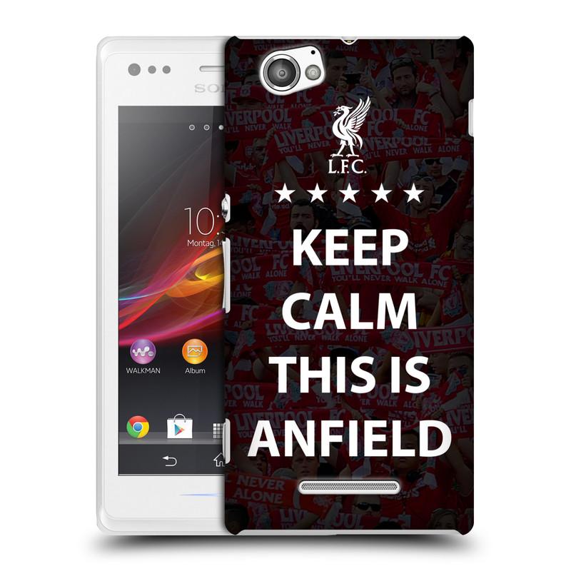 Plastové pouzdro na mobil Sony Xperia M C1905 HEAD CASE Keep Calm This Is Anfield (Kryt či obal na mobilní telefon Liverpool FC Official pro Sony Xperia M )
