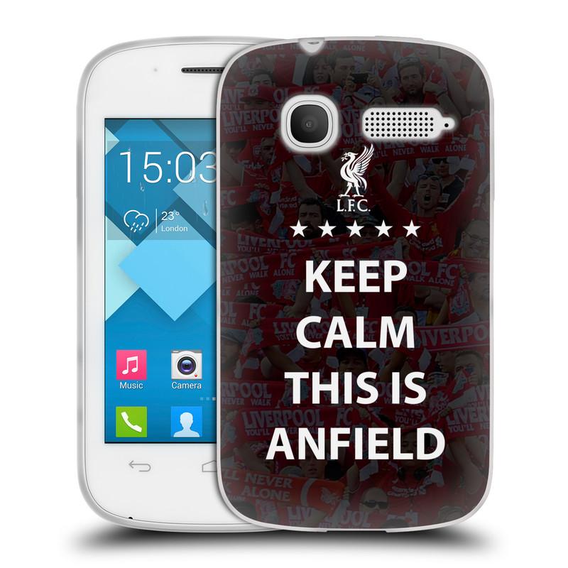 Silikonové pouzdro na mobil Alcatel One Touch Pop C1 HEAD CASE Keep Calm This Is Anfield (Silikonový kryt či obal na mobilní telefon Liverpool FC Official pro Alcatel One Touch Pop C1)