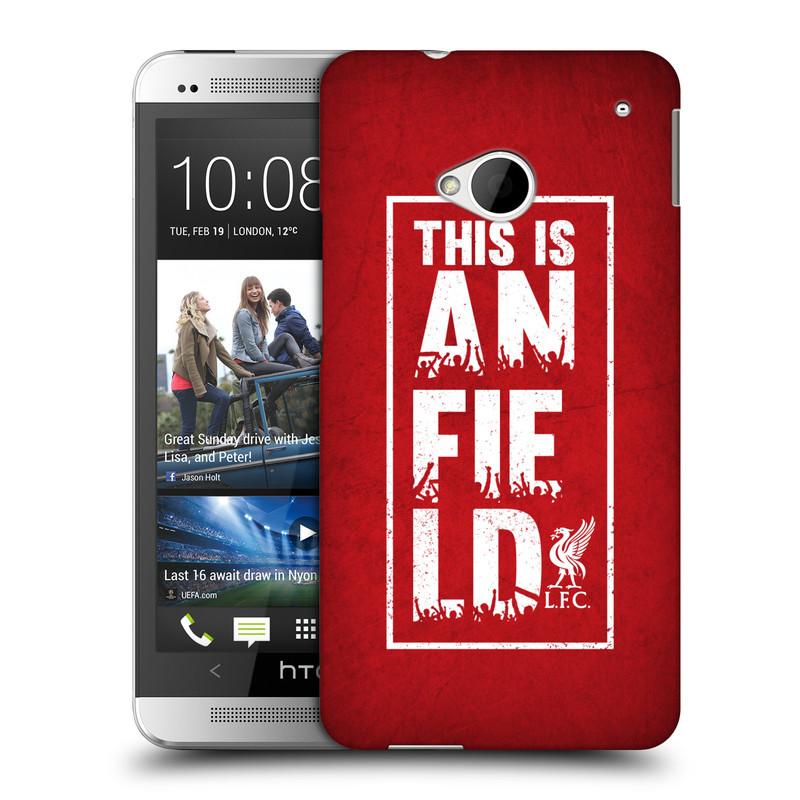 Plastové pouzdro na mobil HTC ONE M7 HEAD CASE Liverpool FC This Is Anfield Red (Kryt či obal na mobilní telefon Liverpool FC Official pro HTC ONE M7)