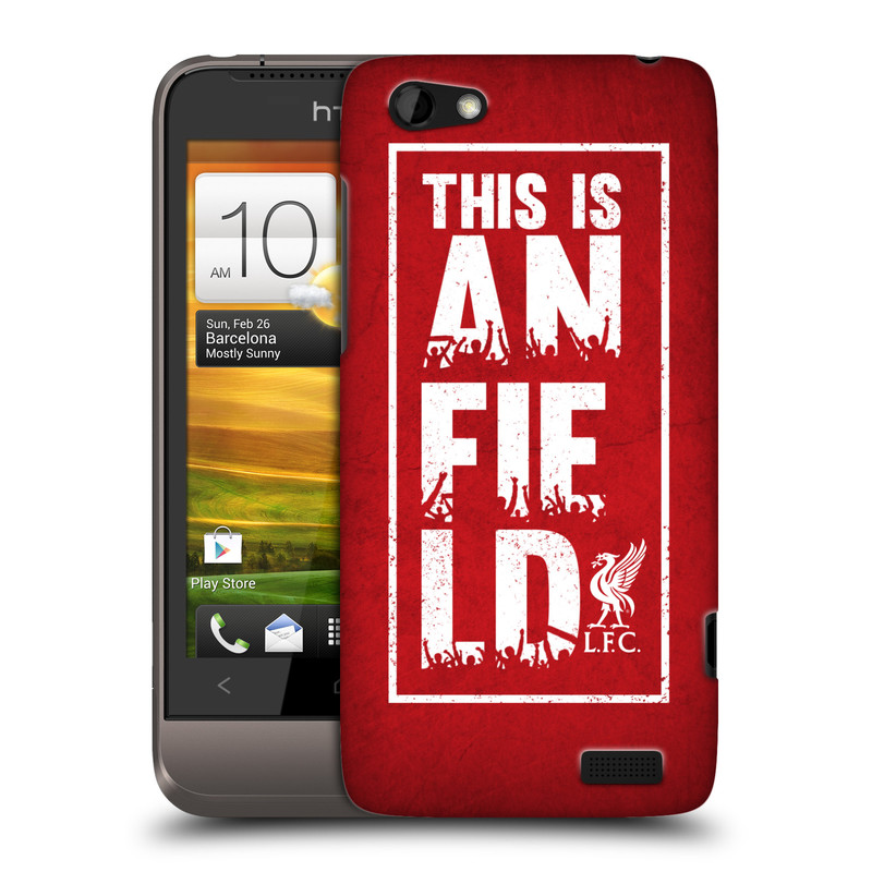 Plastové pouzdro na mobil HTC ONE V HEAD CASE Liverpool FC This Is Anfield Red (Kryt či obal na mobilní telefon Liverpool FC Official pro HTC ONE V)