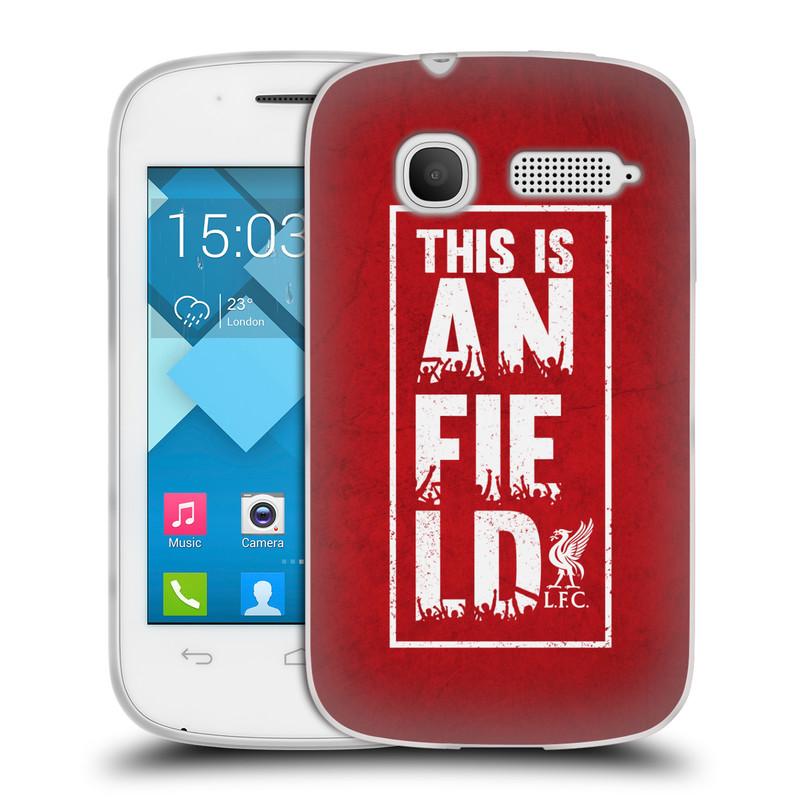 Silikonové pouzdro na mobil Alcatel One Touch Pop C1 HEAD CASE Liverpool FC This Is Anfield Red (Silikonový kryt či obal na mobilní telefon Liverpool FC Official pro Alcatel One Touch Pop C1)