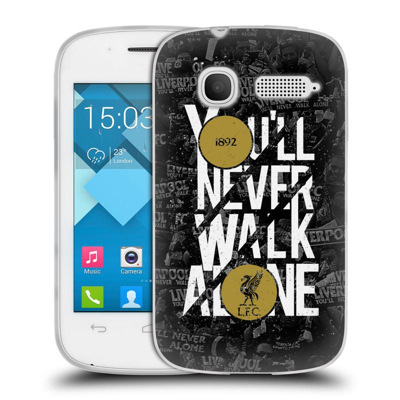 Silikonové pouzdro na mobil Alcatel One Touch Pop C1 HEAD CASE 1892 LFC You'll Never Walk Alone (Silikonový kryt či obal na mobilní telefon Liverpool FC Official pro Alcatel One Touch Pop C1)