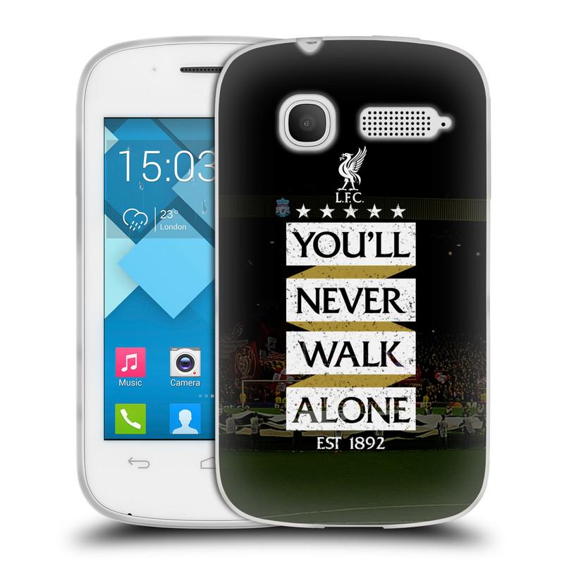 Silikonové pouzdro na mobil Alcatel One Touch Pop C1 HEAD CASE LFC You'll Never Walk Alone (Silikonový kryt či obal na mobilní telefon Liverpool FC Official pro Alcatel One Touch Pop C1)