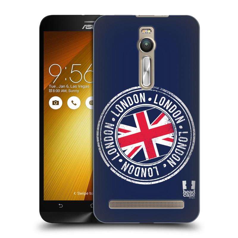 """Plastové pouzdro na mobil Asus ZenFone 2 ZE551ML HEAD CASE LONDON STAMP (Kryt či obal na mobilní telefon Asus ZenFone 2 ZE551ML / ZE550ML s 5,5 """" displejem)"""